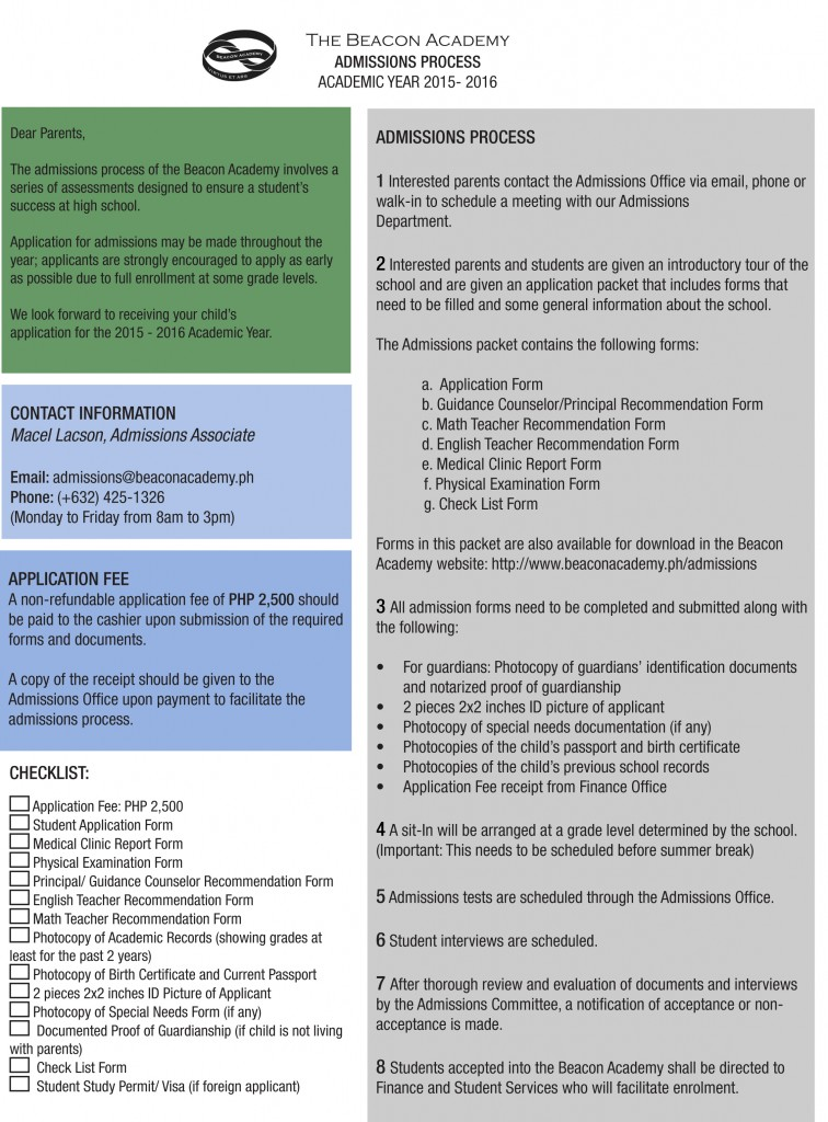 BA Admissions Process2015to2016